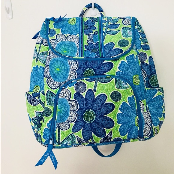 Vera Bradley Bags Doodle Daisy Double Zip Backpack